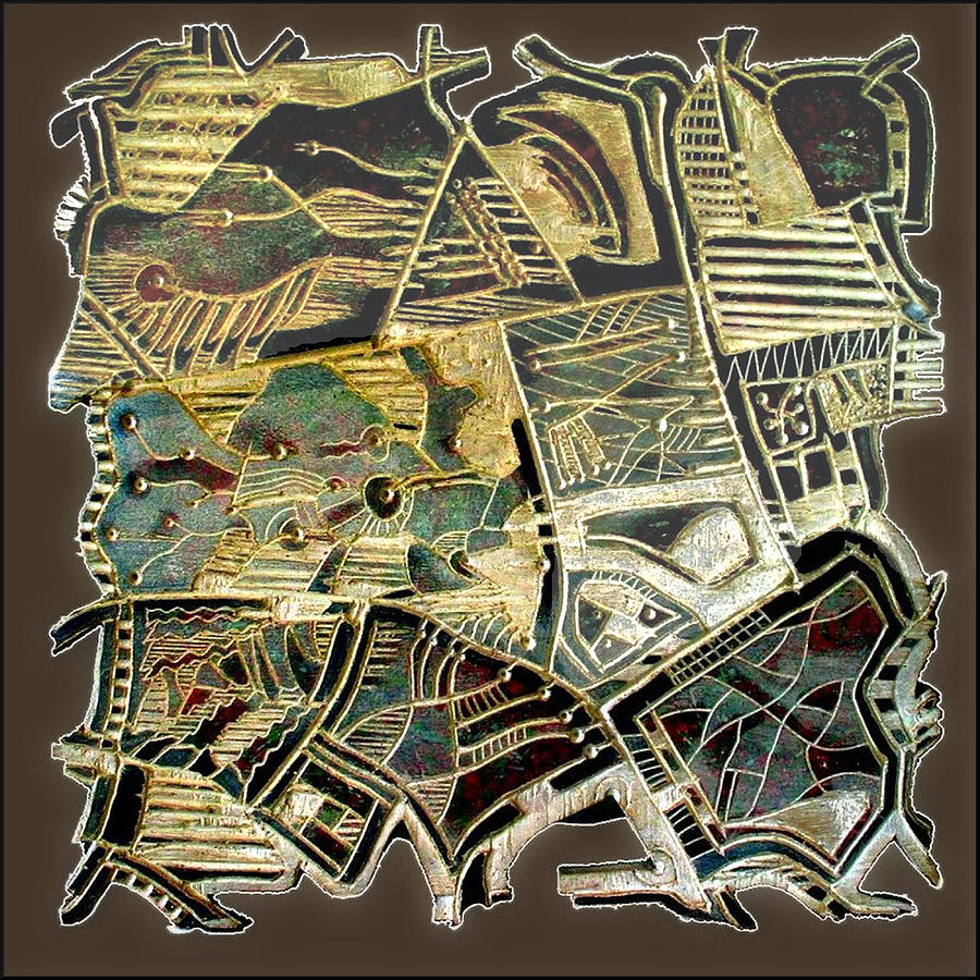 Wood Painting - Route 52 / 1985 by Glenn Bautista
