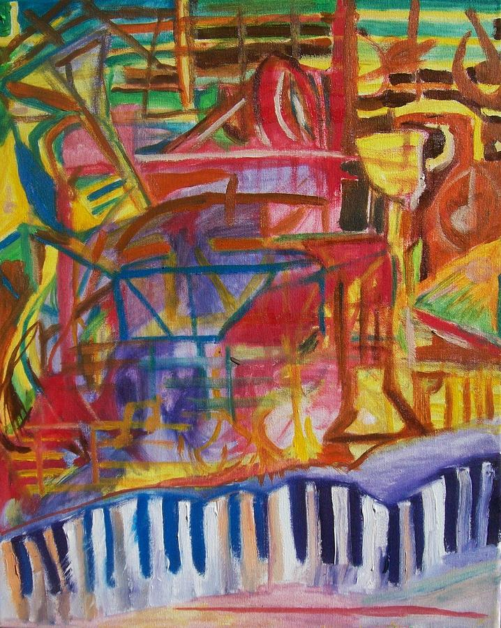 Oil Painting - Routes Of Jazz by James Christiansen
