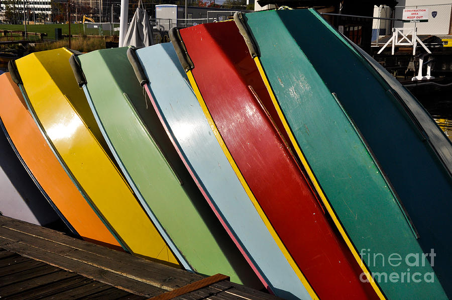 Colors Photograph - Row Of Boats by Camille Lyver