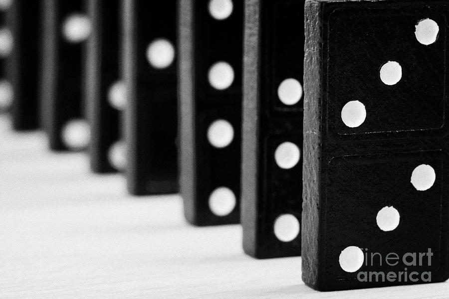 Domino Photograph - Row Of Dominoes by Joe Fox