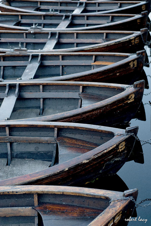 Boats Photograph - Rowboats by Robert Lacy