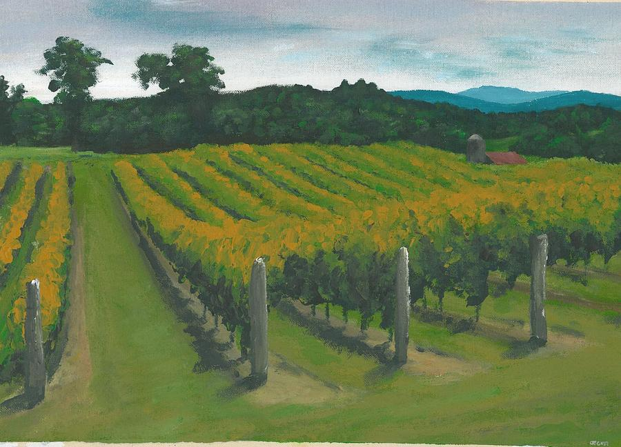 Crop Painting - Rows by DC Decker