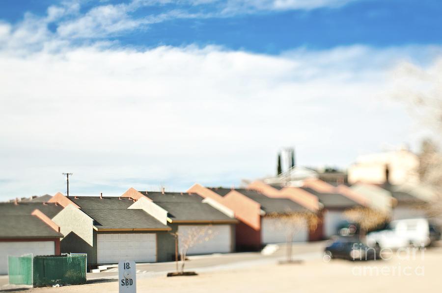 Apartment Photograph - Rows Of Duplex Garages by Eddy Joaquim