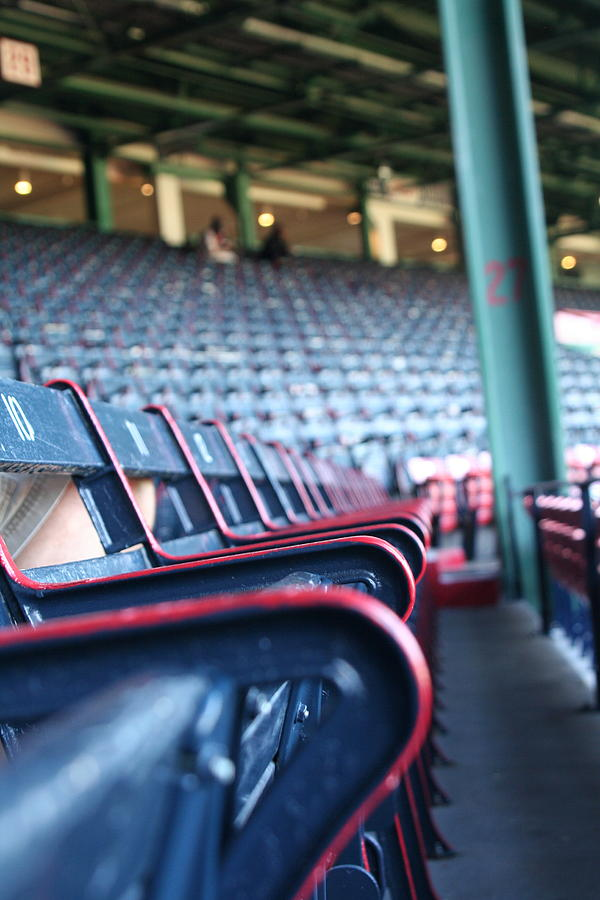 Red Sox Photograph - Rows Of Empty Field Box Seats At Fenway Boston by Loud Waterfall Photography Chelsea Sullens