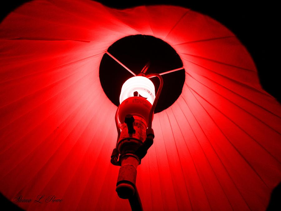 Light Photograph - Roxannes Red Light by Shana Rowe Jackson