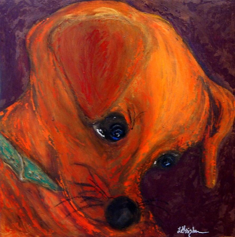 Dog Painting - Roxies New Portrait by Laura  Grisham