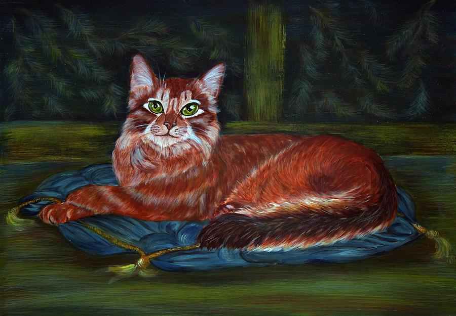 Cat Painting - Royal Cat by Elena Melnikova