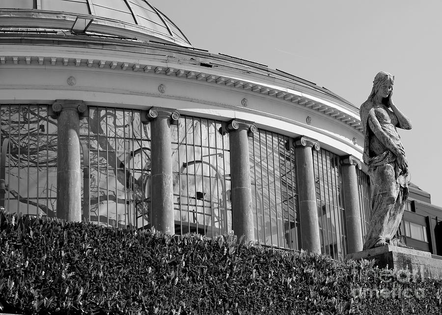 Architecture Photograph - Royal Conservatory In Brussels - Black And White by Carol Groenen