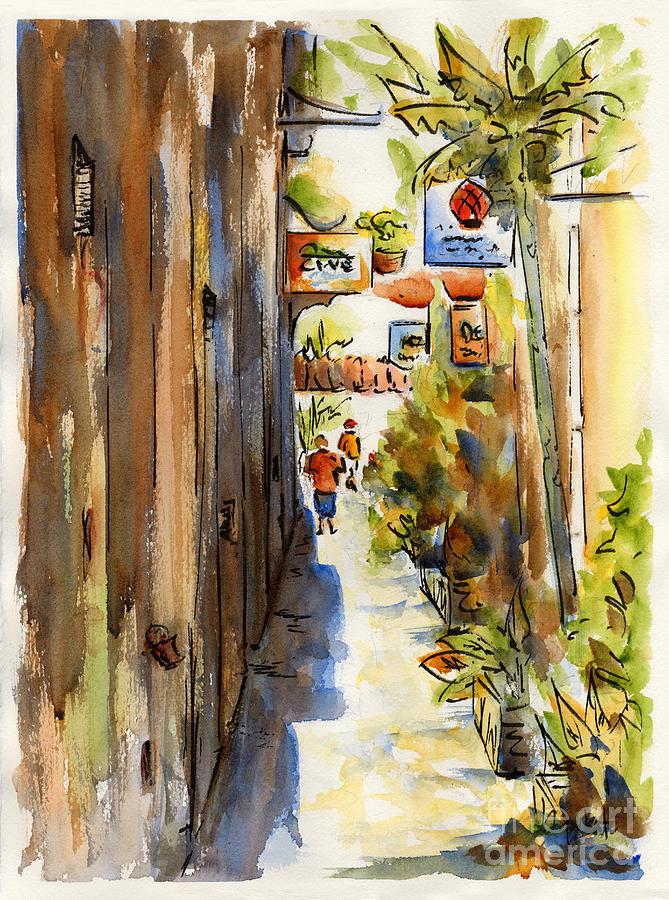Charlotte Amalie Painting - Royal Dane Mall by Pat Katz