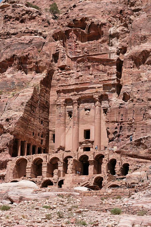 Vertical Photograph - Royal Graves, Djebel Khubtha, Petra, Jordan by Patrice Hauser
