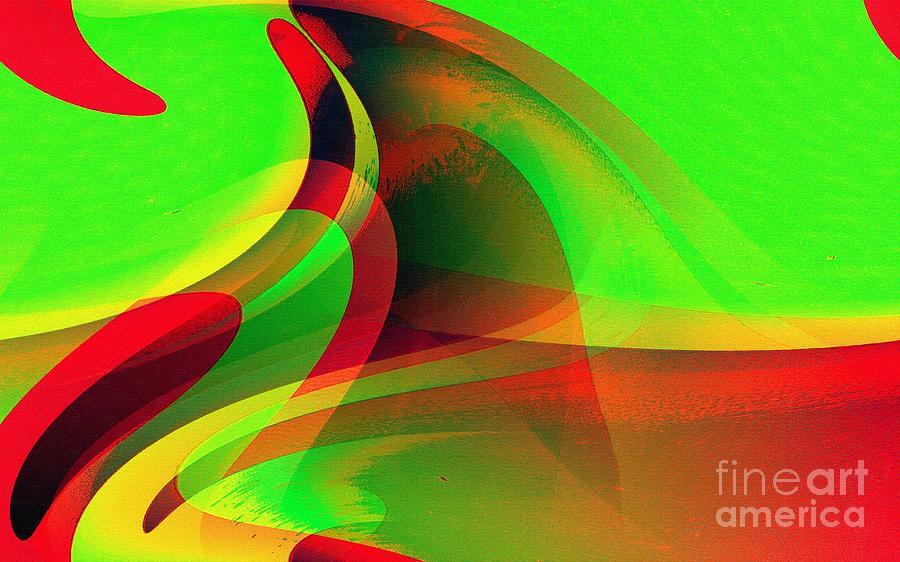 Green Digital Art - Rs 31 by Ricardo G Silveira