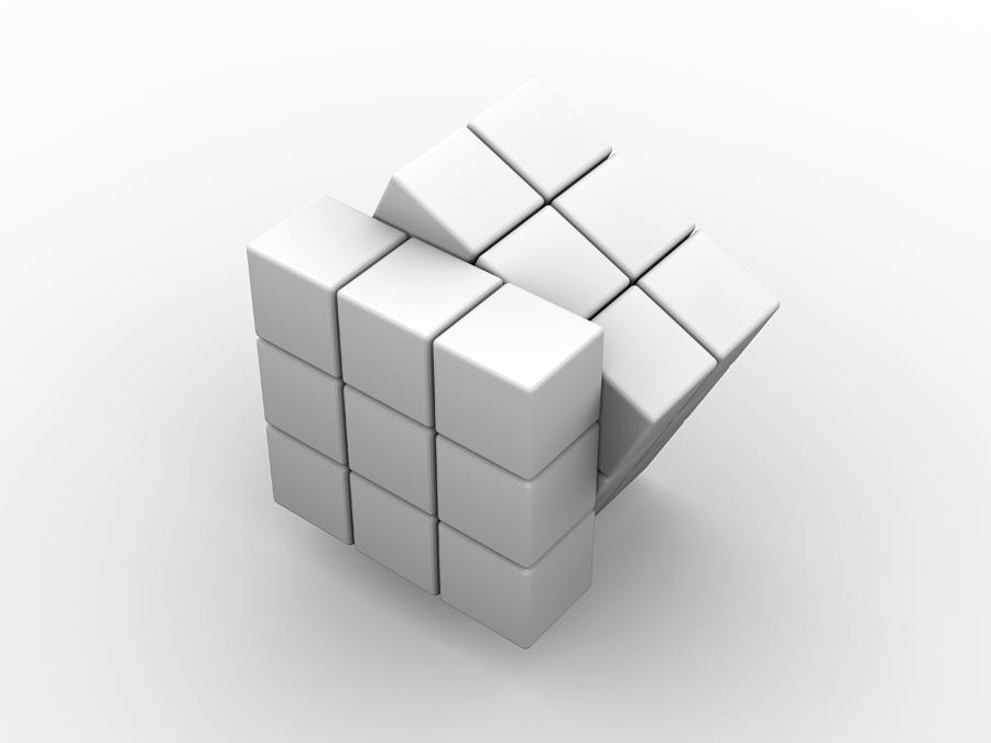 Rubik 39 S Cube Artwork Photograph By Pasieka