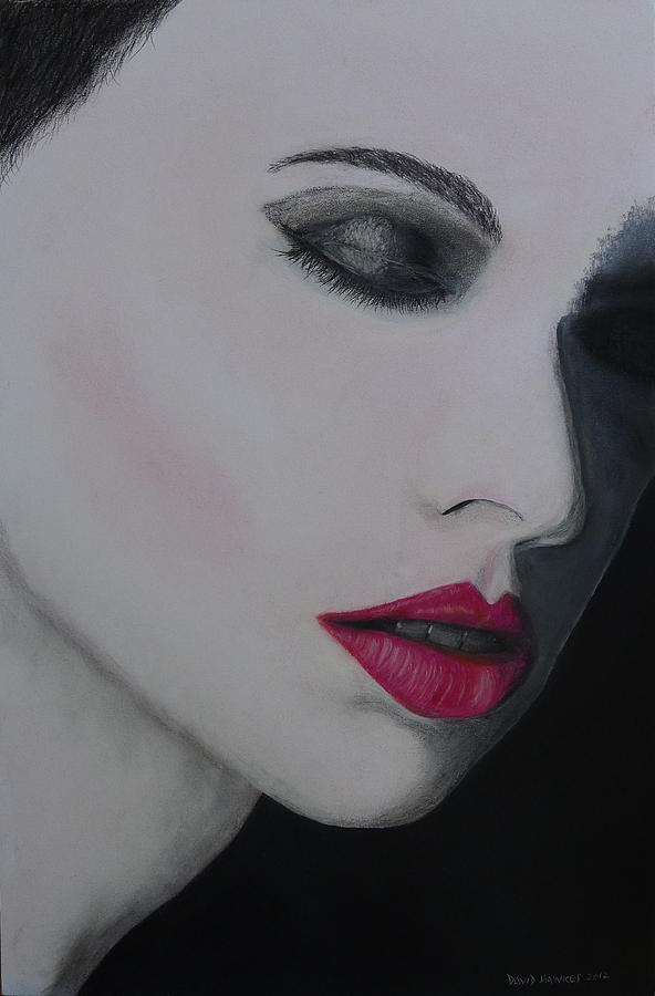 Ruby Painting - Ruby Lips by David Hawkes