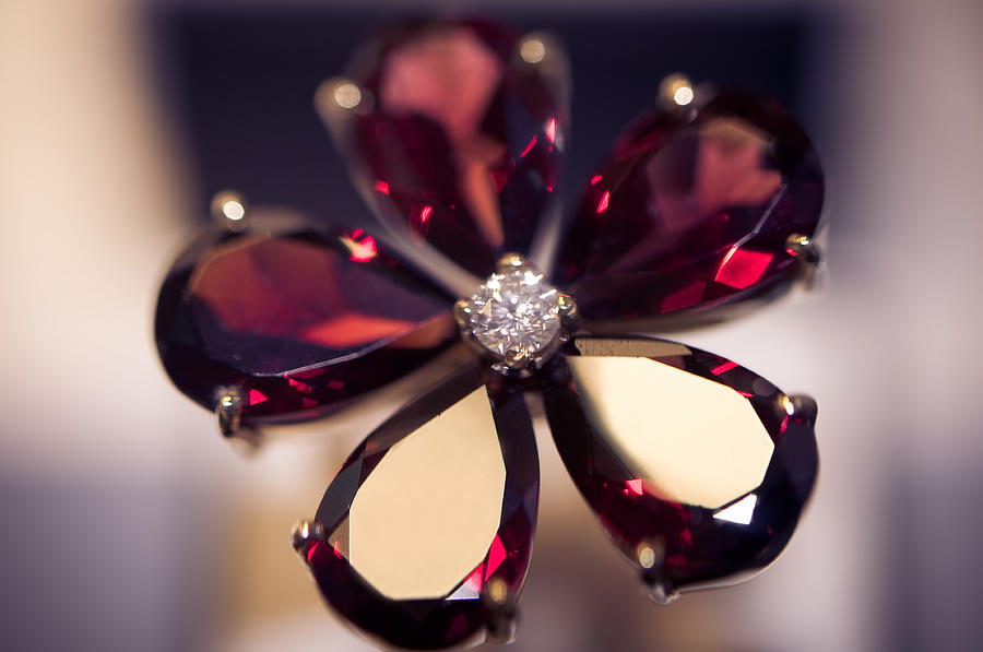 Ring Photograph - Ruby Ring I. Spirit Of Treasure by Jenny Rainbow