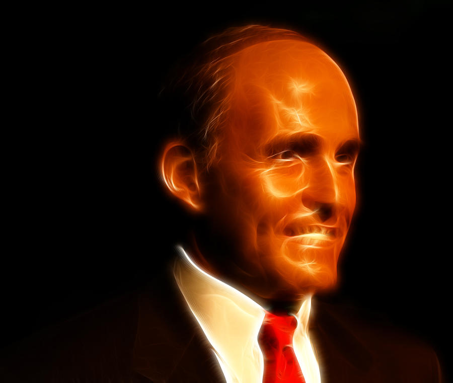 Address Photograph - Rudy Giuliani - Rudolph William Louis Giuliani by Lee Dos Santos