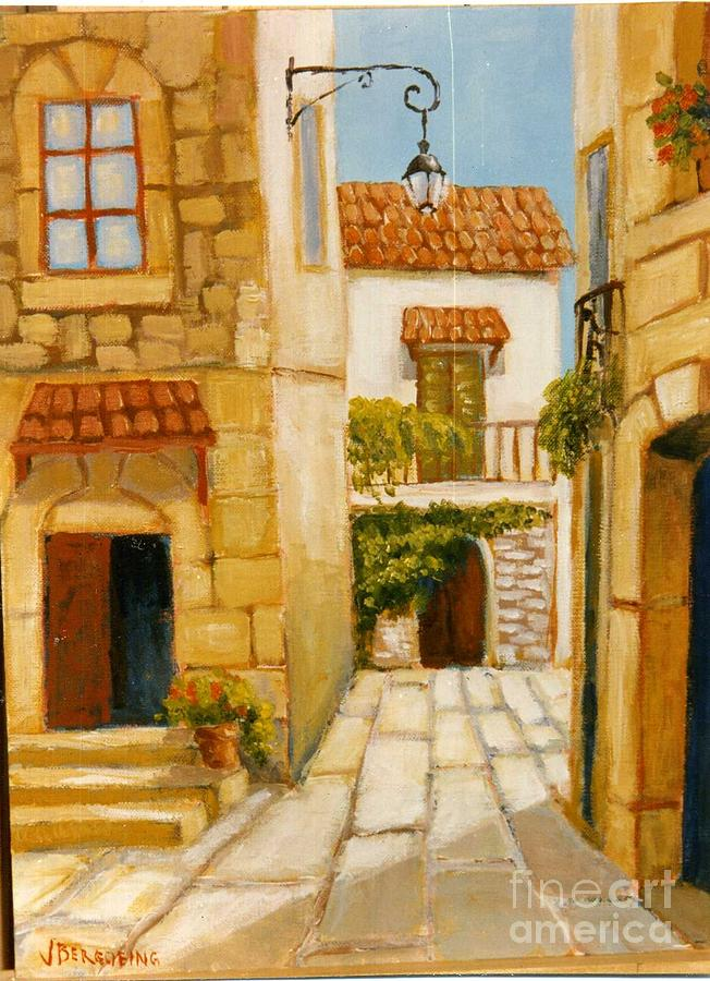 Provence Painting - Rue De Provence by Jean Pierre Bergoeing