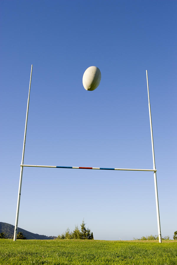 Rugby Goal Scoring Photograph By Jupiterimages