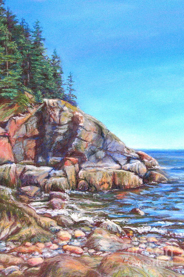 Coast Painting - Rugged Coast by Linda Spencer