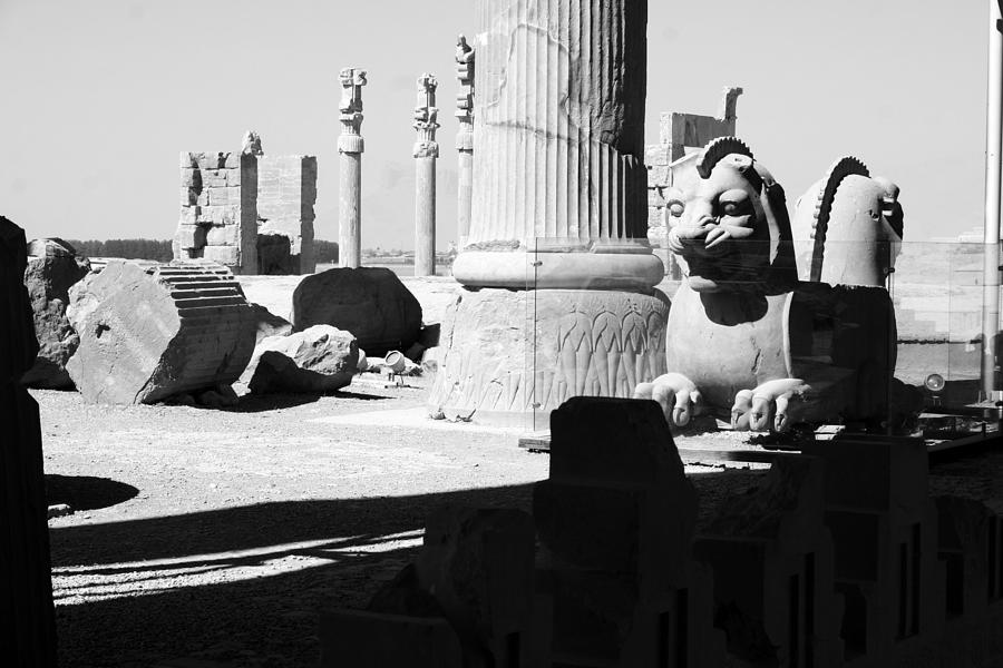 Home Decor Photograph - Ruins Bw by Tia Anderson-Esguerra