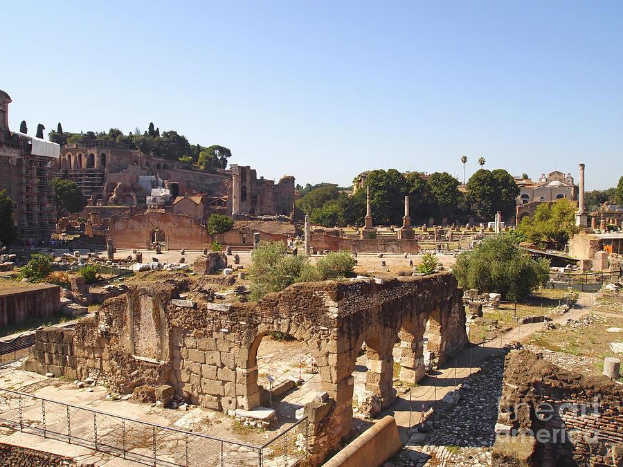 Worth Photograph - Ruins. Roman Forum. Rome by Bernard Jaubert