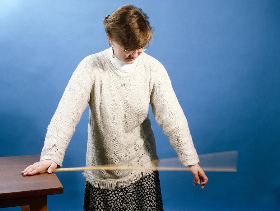 Equipment Photograph - Ruler Vibrating by Andrew Lambert Photography