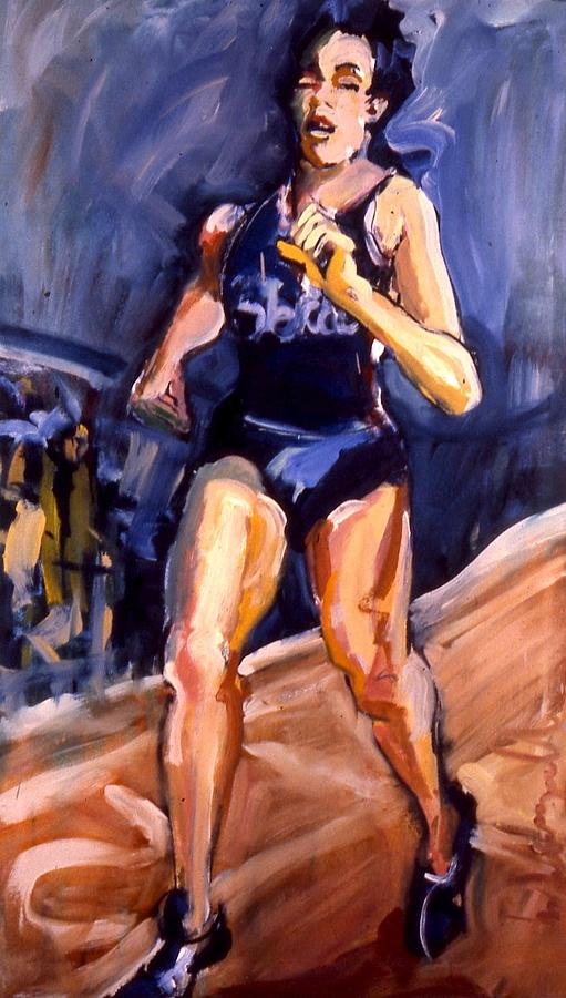 Portraits Painting - Runner by Les Leffingwell
