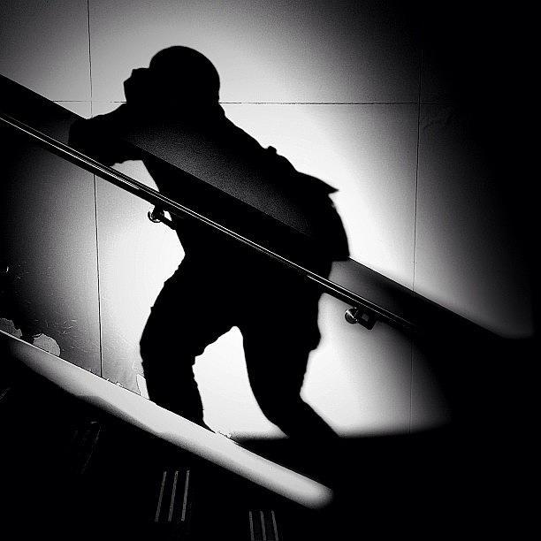 Blackandwhite Photograph - Running Calling Climbing... Were by Robbert Ter Weijden