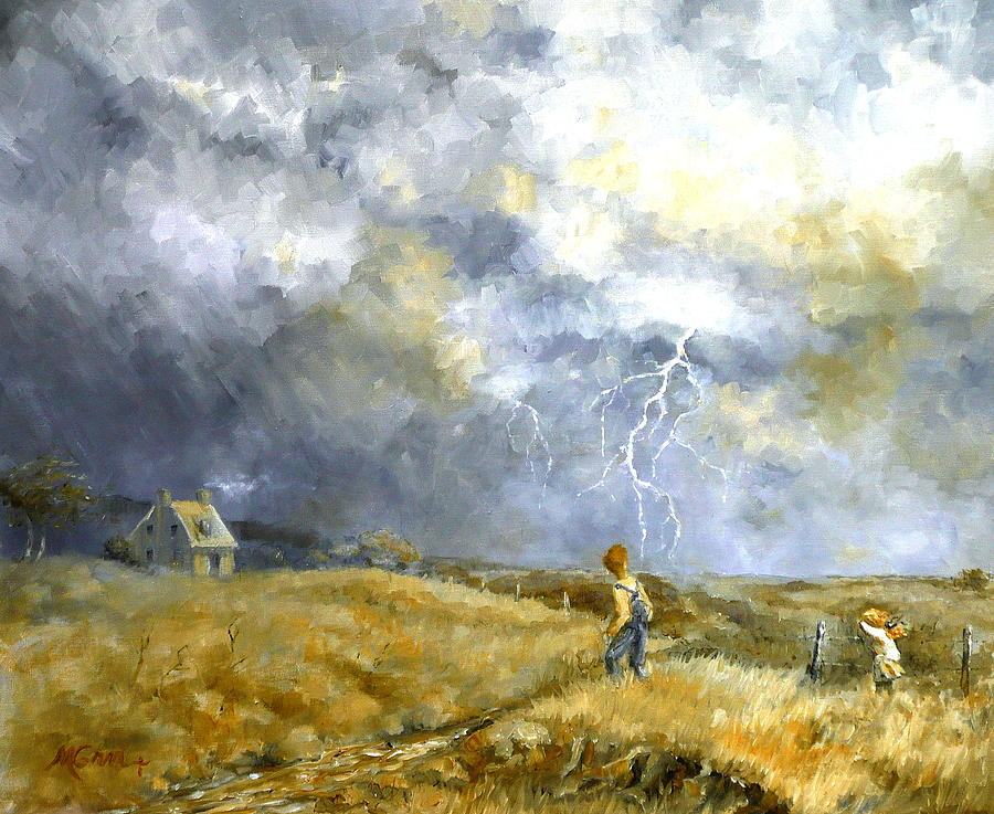 Australia Painting - Running Home by Marie Green