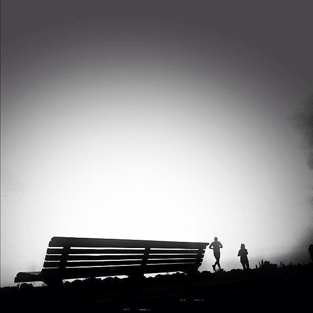Blackandwhite Photograph - Running On Air (re-edit) by Robbert Ter Weijden