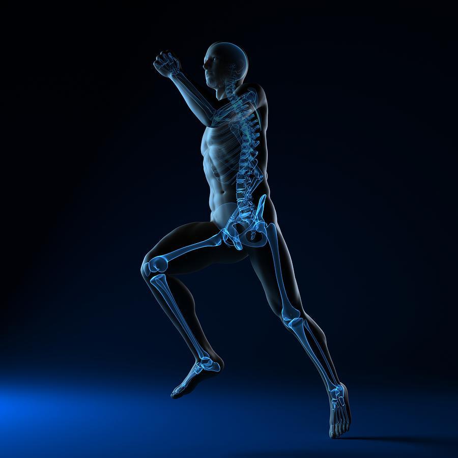 Artwork Photograph - Running Skeleton, Artwork by Sciepro