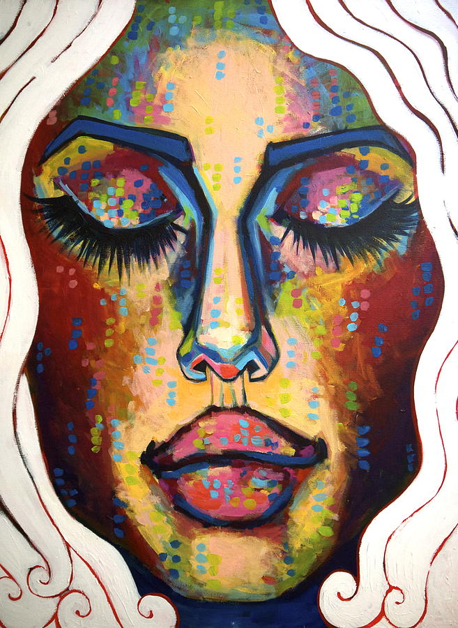 Face Painting - Running Through My Mind by Erica Shaw