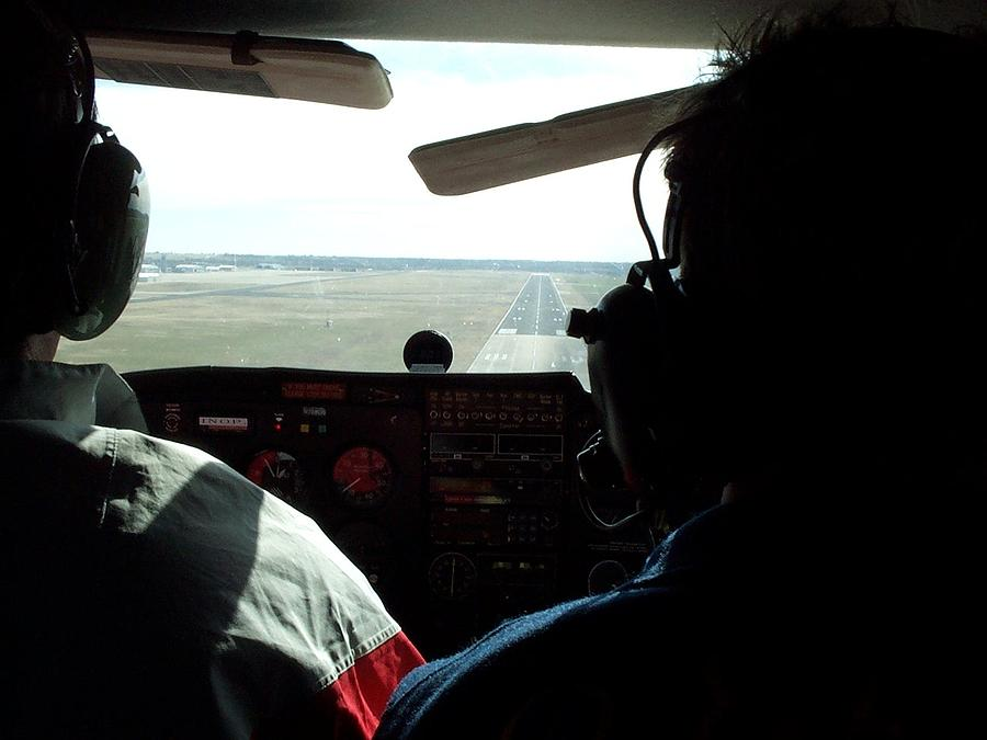 Passenger Plane Photograph - Runway 10 Dallas Area by Thomas Woolworth