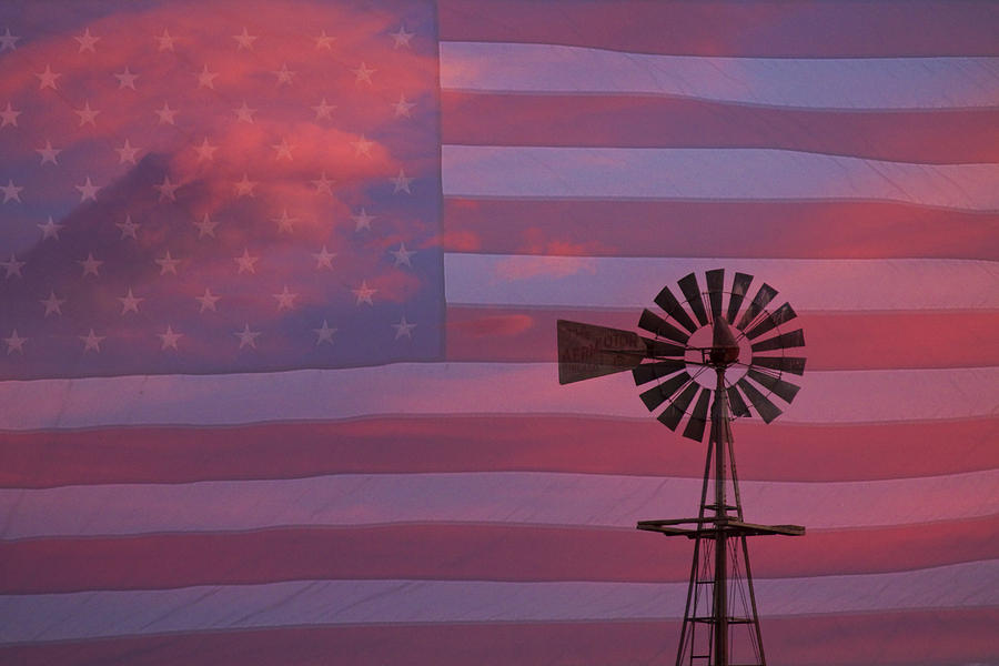 Windmills Photograph - Rural America by James BO  Insogna