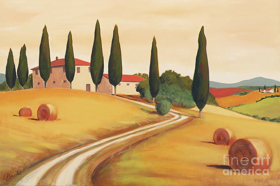 Rural Italian Landscape I Painting By Leigh Banks