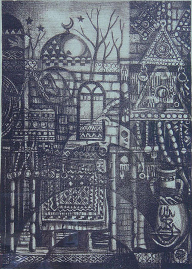 Arab Digital Art - Rural Memory by Ousama Lazkani