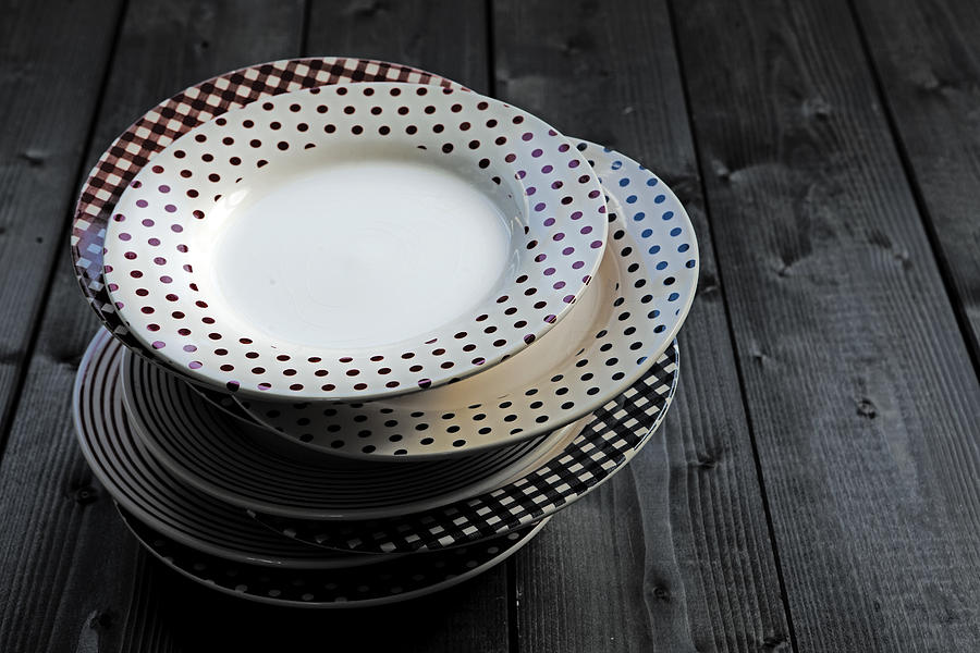 Old Photograph - Rural Plates by Joana Kruse