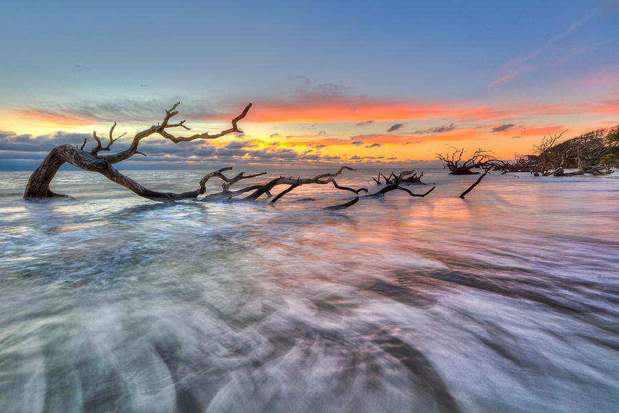 Clouds Photograph - Rush by Debra and Dave Vanderlaan