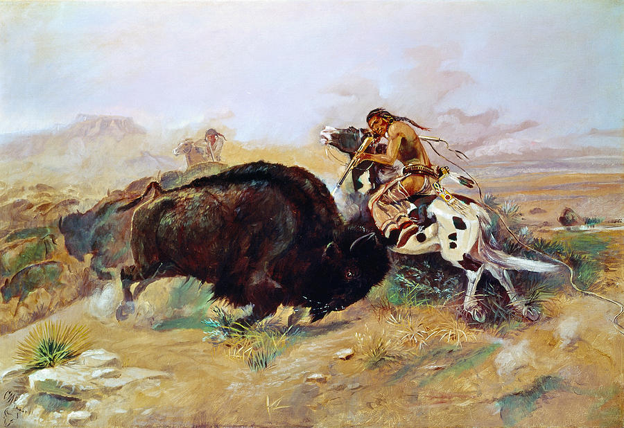Russell Buffalo Hunt Photograph By Granger