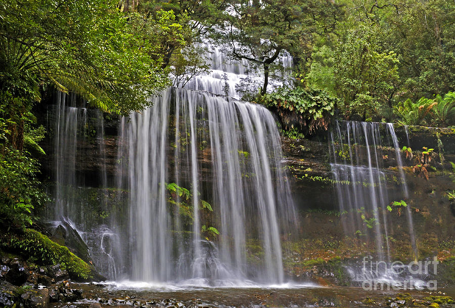 Russell Photograph - Russell Falls by Raoul Madden