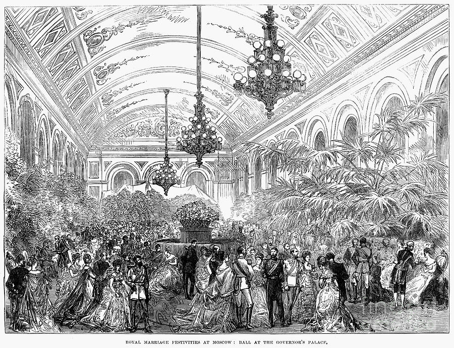 1874 Photograph - Russia: Royal Wedding, 1874 by Granger