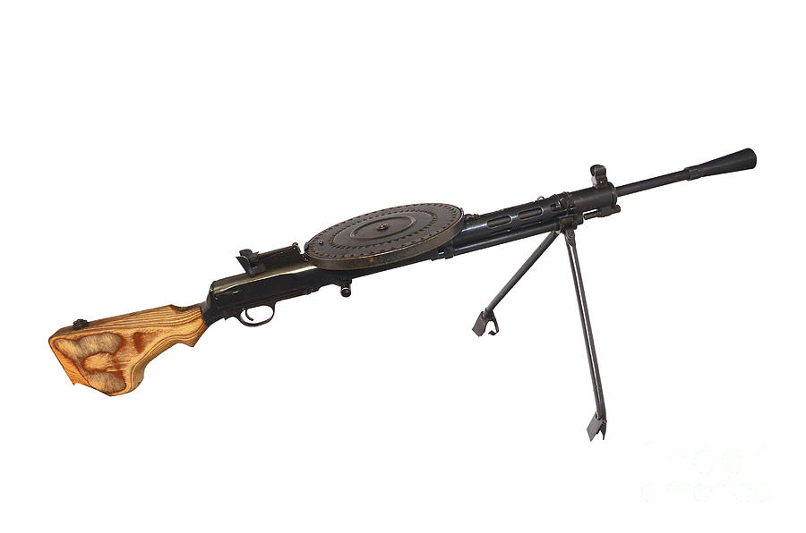 No People Photograph - Russian 7.62mm Degtyarev Dp Machine Gun by Andrew Chittock