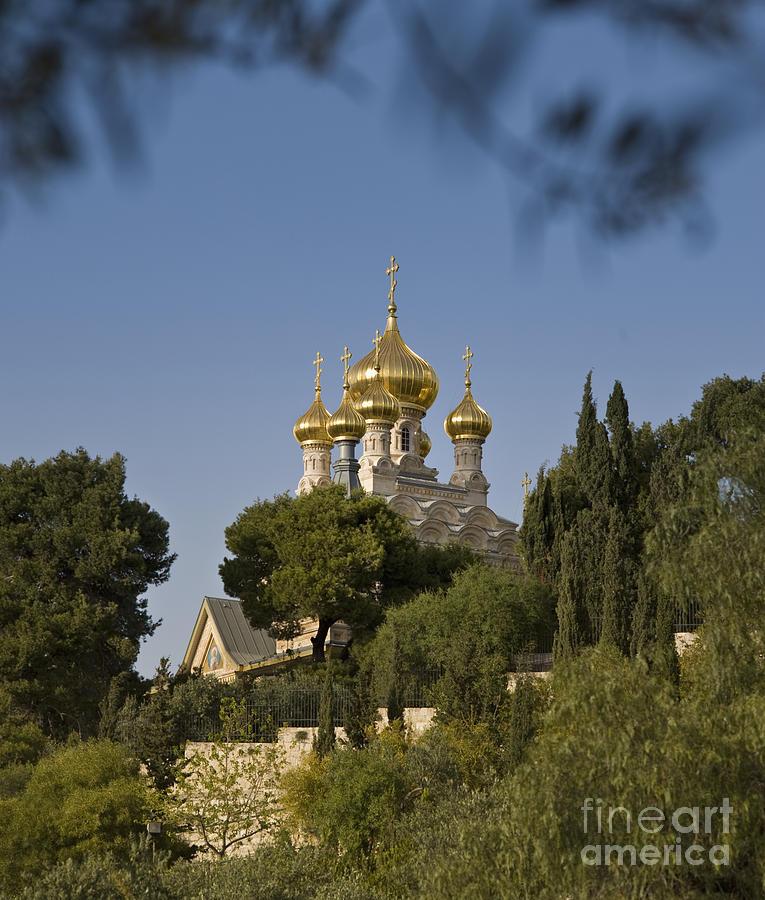 Ancient Photograph - Russian Orthodox Church by Noam Armonn