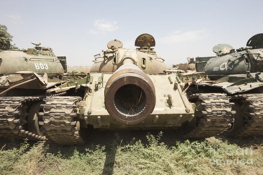 Afghanistan Photograph - Russian T-54 And T-55 Main Battle Tanks by Terry Moore