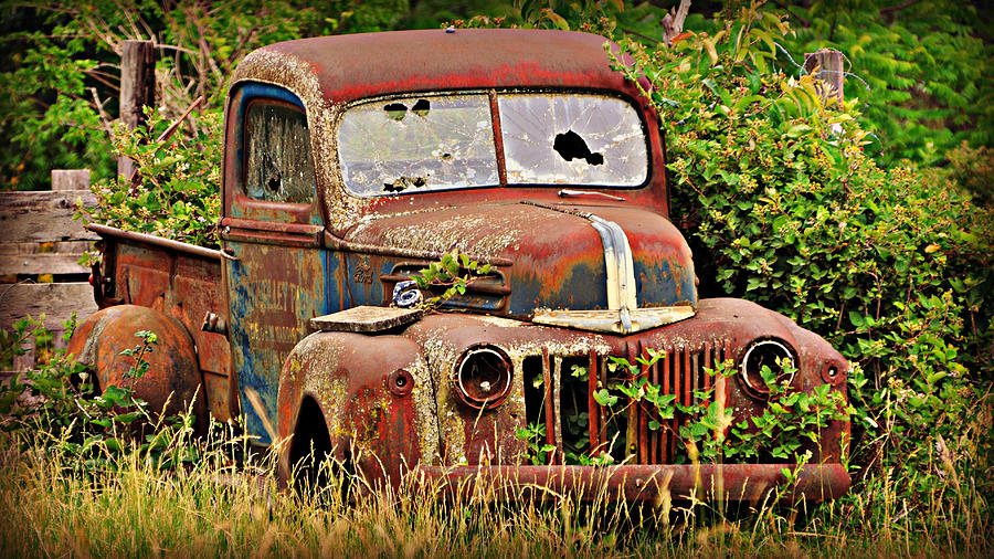 Antique Photograph - Rust Bucket by Marty Koch