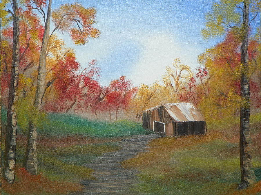 Nature Painting - Rustic by Amity Traylor
