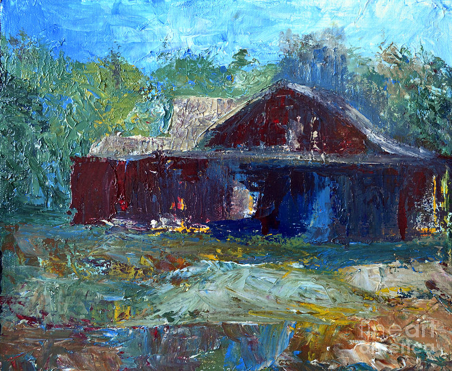 Barn Painting - Rustic Barn by Claire Bull