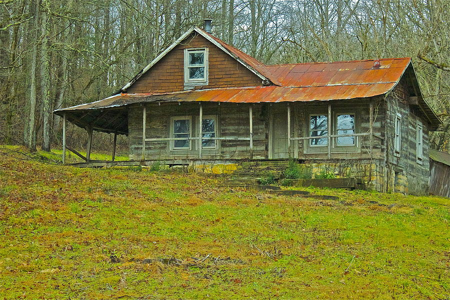 rustic cabin tennessee photograph by bob hasbrook