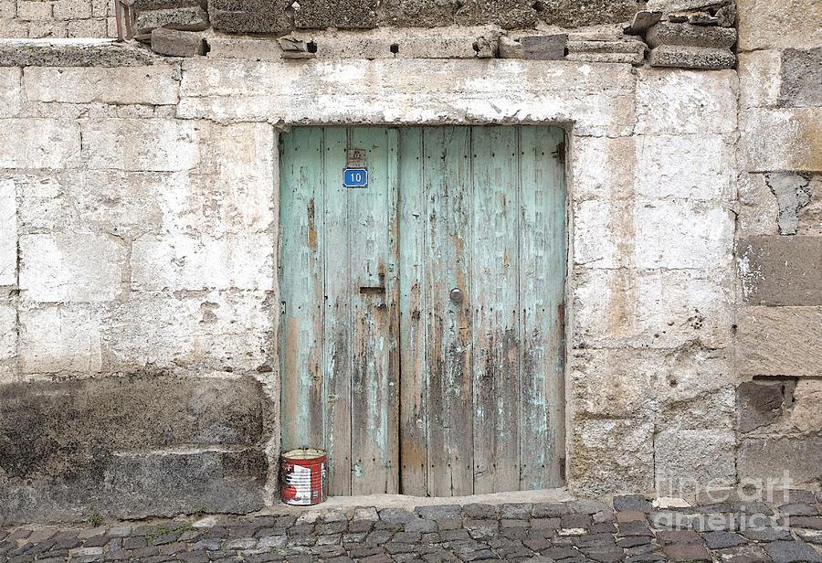 Aqua Painting - Rustic Door No. 10 by Glennis Siverson & Rustic Door No. 10 Painting by Glennis Siverson