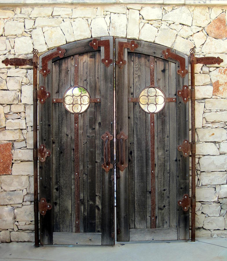 Rustic Back Doors : Rustic doors photograph by sheila harnett