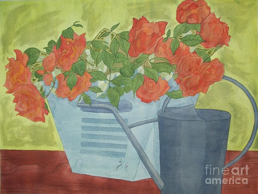 Flowers Painting - Rustic Garden  by Jennifer Taylor Rogerson